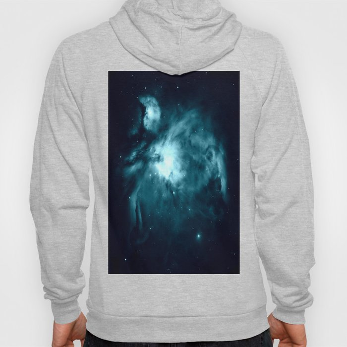 Teal Orion nebula : Hauntingly Beautiful Space Series Hoody
