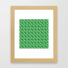abstract pattern in metal Framed Art Print