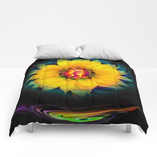 Sunflower Love Comforters