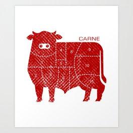 carne Art Print