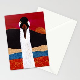 Crane at Sunset Stationery Cards