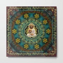 Shakyamuni Buddha - Enlightenment, Peace and Happiness Metal Print