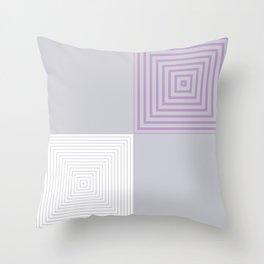 Colour Pop Squares - Lilac Throw Pillow