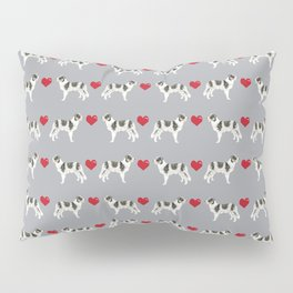 Border Collie love hearts dog breed gifts collies herding dogs pet friendly Pillow Sham
