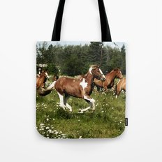 Spring Horse Run Tote Bag