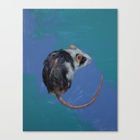 mouse Canvas Prints featuring Mouse by Michael Creese