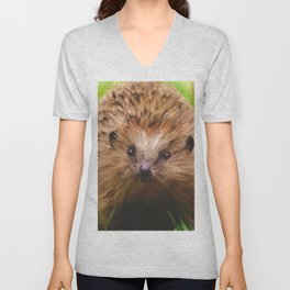 Hedgehog in the Grass Unisex V-Neck