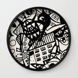 Alley Katz Wall Clock