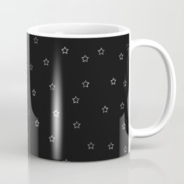 Black & Silver Star Pattern Coffee Mug