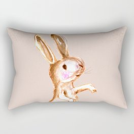 Bunny Zee: Sitting on Ready Rectangular Pillow