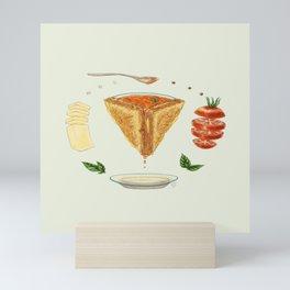 Grilled Cheese Mandala Mini Art Print