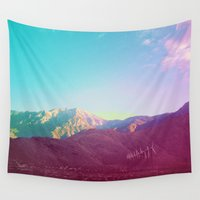 western Wall Tapestries featuring wild western worry by Alarmclock Design