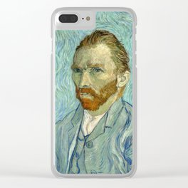 Vincent van Gogh - Self Portrait Clear iPhone Case