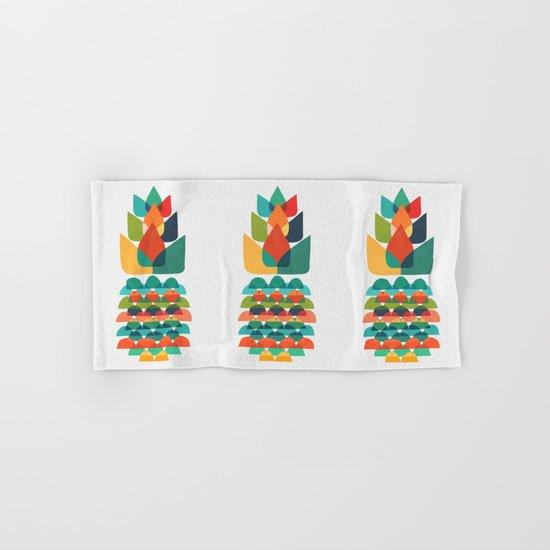 Colorful Whimsical Ananas Hand & Bath Towel