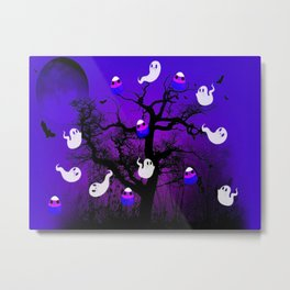 Spooky Candy Tree Metal Print