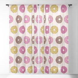 Sweet Donuts Pattern Sheer Curtain