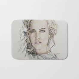 Charlize Theron artwork portrait Bath Mat