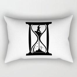 Comic - Time Flies - Hourglass Rectangular Pillow