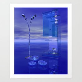 Blue Whenever Art Print