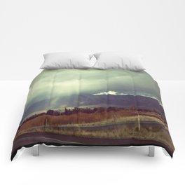 February rain Comforters