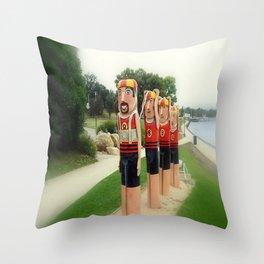 Sculptured 1930s Life Savers Bollards  Throw Pillow
