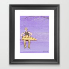 The Lute Player Framed Art Print