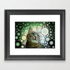 cat dreamy Framed Art Print