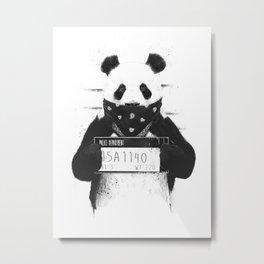 Bad panda Metal Print