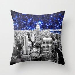new york city. Blue Stars Throw Pillow