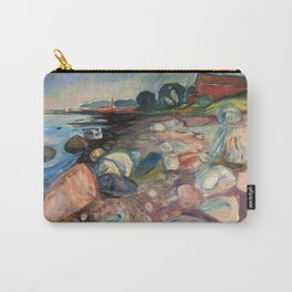 Shore with Red House by Edvard Munch Carry-All Pouch