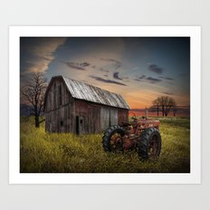 Abandoned Farmall Tractor and Barn Art Print
