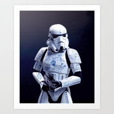 Tattooed Trooper Art Print