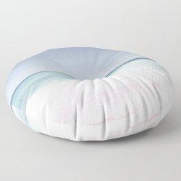 Pastel ocean waves Floor Pillow