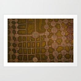 Aboriginal background Art Print
