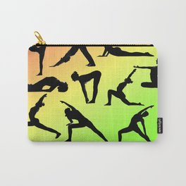 Yoga Poses - Orange Yellow Green collage Carry-All Pouch