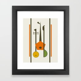 Mid-Century Modern Art Musical Strings Framed Art Print