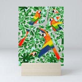 Rainbow macaw Mini Art Print