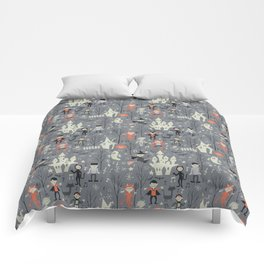 Love shack monsters halloween party Comforters
