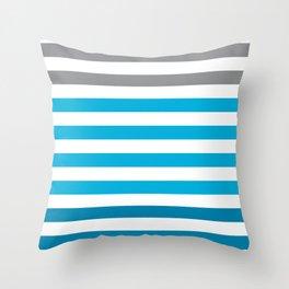 Stripes Gradient - Blue Throw Pillow