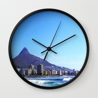 south africa Wall Clocks featuring South Africa Impression 6 by Art-Motiva