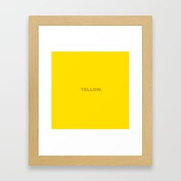 Yellow color less is more, happy summer design Framed Art Print