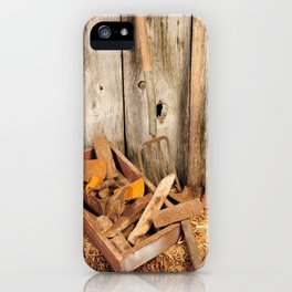 Rusted tools iPhone Case