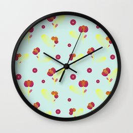 Fuchsia flowers Wall Clock