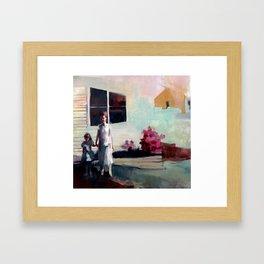 No More Rose Bushes Framed Art Print