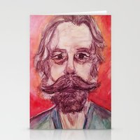 grateful dead Stationery Cards featuring Bob Weir Watercolor Portrait Grateful Dead by Acorn