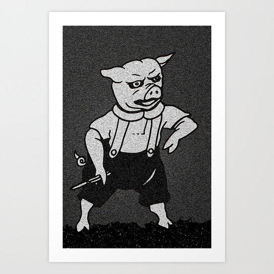 Delinquent Pig Art Print