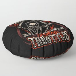 I Solve My Problems By Twisting Throttles Floor Pillow