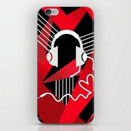 Red Love Gamer Headset iPhone Skin