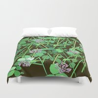 clover Duvet Covers featuring Clover by theRNDshop