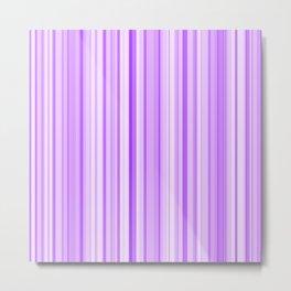 Purple Candy Stripe Metal Print